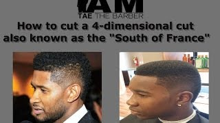 How to cut a 4-dimensional haircut/ South of France (Usher