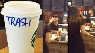 STARBUCKS EMPLOYEE ROASTS CUSTOMER!