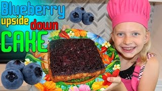 Kid Size Cooking: Blueberry Upside-Down Cake