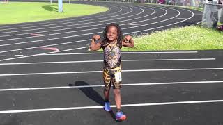 6 Year Old Blaze Wins 100,200 And 400 In The 8U Division