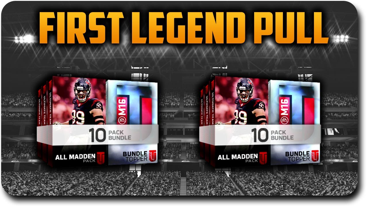 mut 16 all madden pack bundles opening first elite legend pull