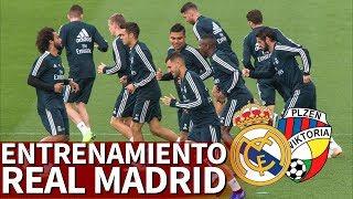 Real Madrid - Viktoria Plzen | Entrenamiento Real Madrid previa Champions | Diario AS