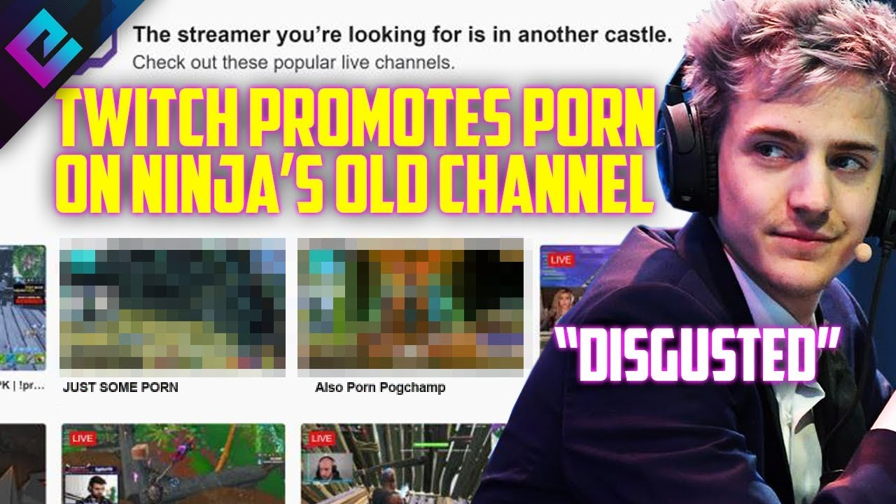 Twitch Recommends Porn on Ninja's Channel