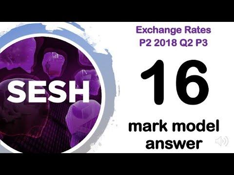 Exchange Rates - Paper 2 2018 Q2P3 - A Level Business