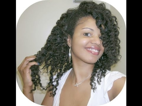 ... Oil Hair Growth and Havana Twist Crochet Braids under Round Hair Brush