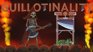 Death By A Guitar Hero God of Darkness In Happy Room Dungeon - Guillotinality  & More!
