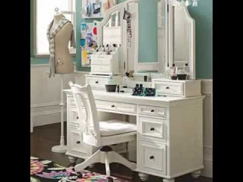 DIY bedroom vanity design decorating ideas - YouTube