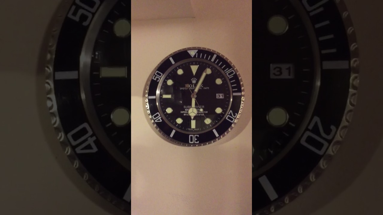 Rolex submariner wall clock youtube rolex submariner wall clock amipublicfo Images