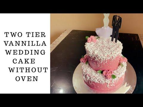wedding-cake-/two-tier-vannilla-cake/easy-wedding-cake-decoration-ideas-(എളുപ്പത്തിൽ-വെഡിങ്-കേക്ക്-)