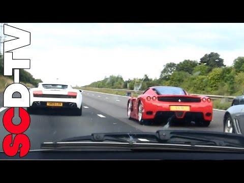 Ferrari Enzo brutal acceleration