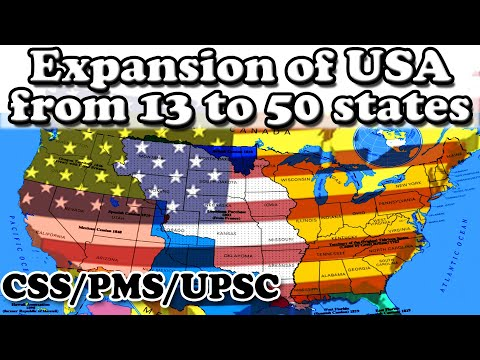 Expansion Of USA: From 13 To 50 States (1820 - 1949) - Westward Movement | Bilal Concepts HINDI/URDU
