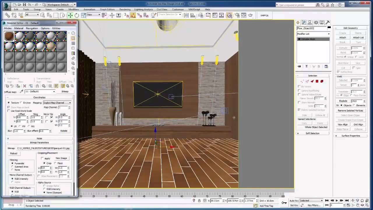 Realistic 3D Parquet 3ds Max   YouTube
