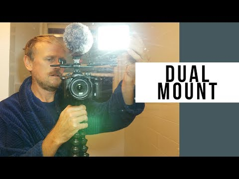 Dual Mount Hot Shoe Camera Mount For Microphone And Light