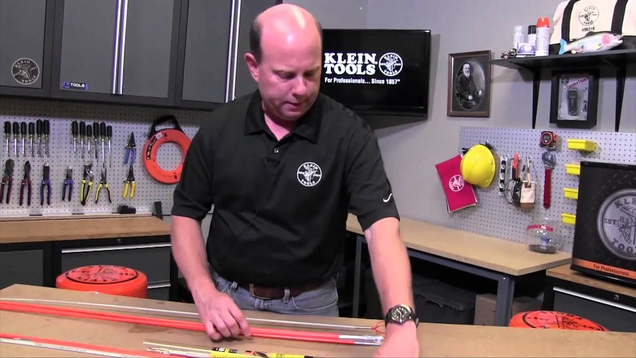 How To Use Fish Rods for Pulling Cables - YouTube