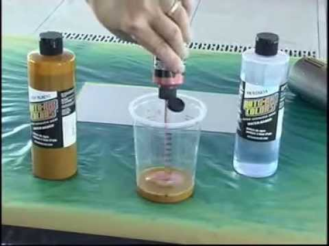 How to spray AutoAir Colors Candy Paint Guide 4600 Series YouTube