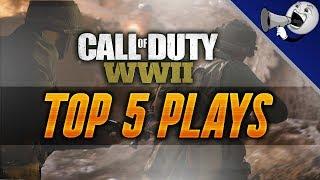 Call of Duty WWII Top 5 Plays #1: Insane 10 Kill Sniper Feed!! (COD WW2 Best Plays)