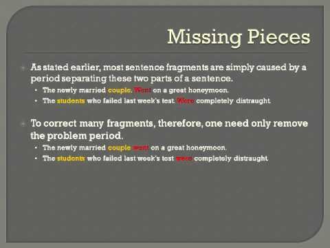 Avoiding and Correcting Sentence Fragments - YouTube