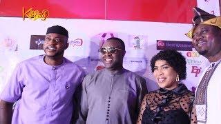 Kolawole Ajeyemi Fathia Odunlade Femi Others attends Muyiwa Ademolas Movie Premier GBARADA