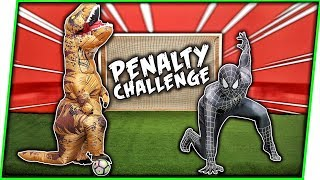 T-REX vs SPIDERMAN | PENALTY CHALLENGE