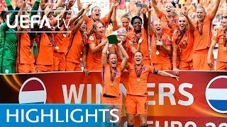 Women's EURO final highlights: Netherlands v Denmark