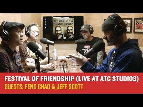 Brody Stevens with Feng Chao and Jeff Scott