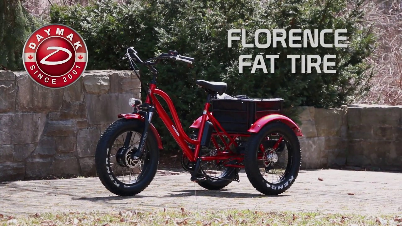Daymak Florence Fat Tire | Adult Tricycle (Electric Bike)