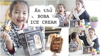 Ăn Thử Kem Que Trân Châu Đường Đen ♥ Brown Sugar Boba Ice Cream   mattalehang