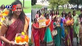 Nris Celebrates Bathukamma 2016 In Usa  Georgia  Chicago  Telugu News  Tv5 News