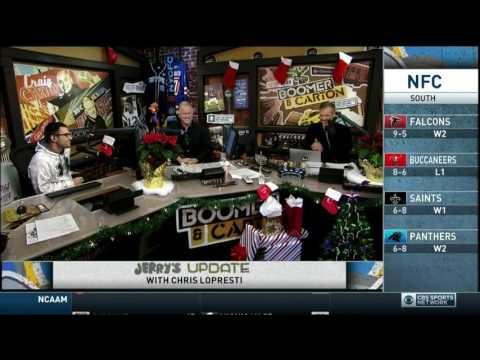 Boomer and Carton Boomer Esiason & Kevin Harlan calling MNF Game 12/22/2016