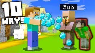 10 GENIUS Ways to Steal Diamonds in Minecraft!
