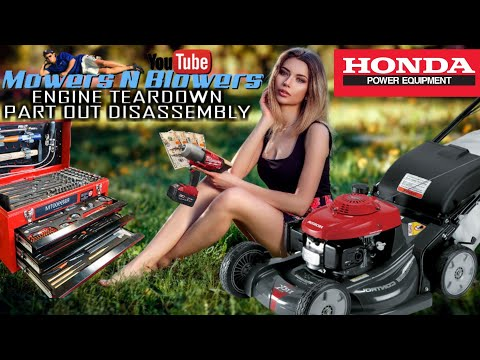 FREE HONDA HRX217 SELF PROPELLED LAWN MOWER GCV190 ENGINE TEARDOWN DISASSEMBLY PART OUT SELL ON EBAY