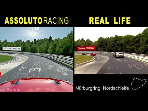 Assoluto Racing Vs Real Life @ Nürburgring Nordschleife