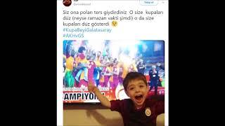 Galatasaray 3 1 Akhisar - Türkiye Kupası finali sonrası Komik ve Eğlenceli Caps ve Twitler