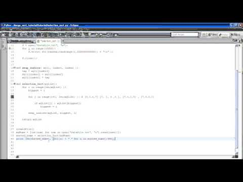 Python Algorithms For Beginners Tutorial 1 - Selection Sort and cProfile thumbnail