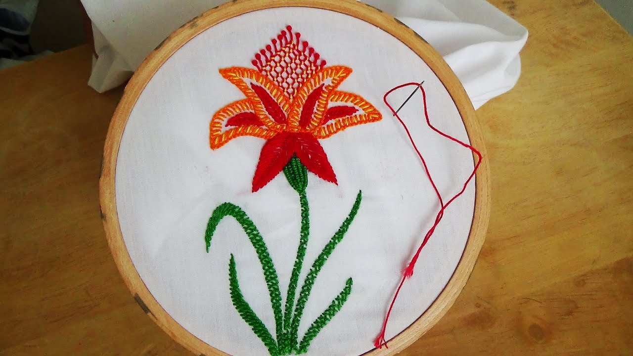 Hand embroidery blanket stitch flower youtube