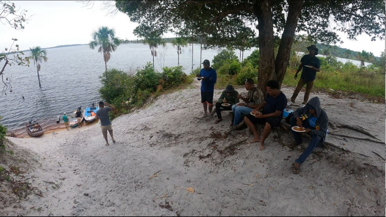 FISHING IN MASHABO LAKE ESSEQUIBO COAST