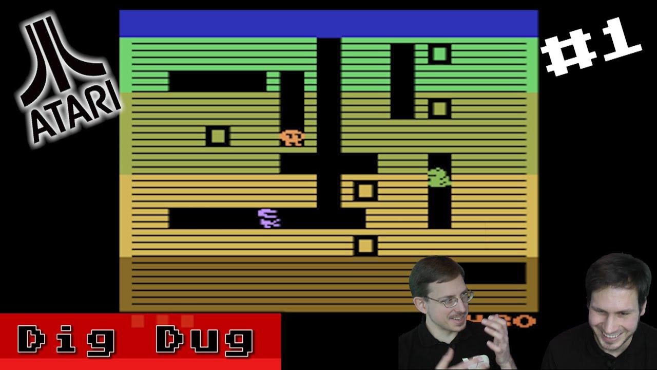 Retroplay Dig Dug 1 Vcs Drachen Und Geister Atari 2600 Youtube