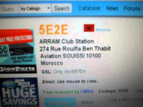 5E2E - ARRAM Club Station S.E.S. - MOROCCO - 21:05 utc-04-Sep-2015- 40 meters band