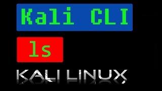 Kali Linux Cli - ls