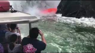 volcanic eruption footage