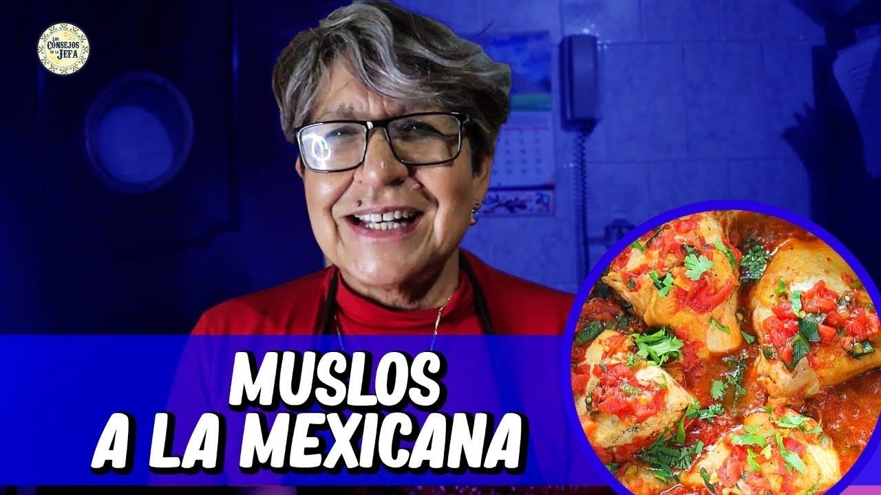 Muslos A LA MEXICANA sabrosos y jugosos