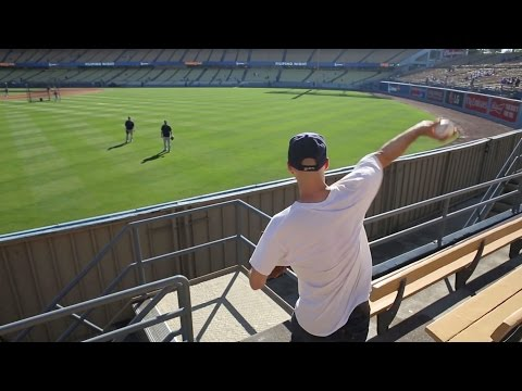 Playing Catch From The Right Field Pavilion At Dodger Stadium