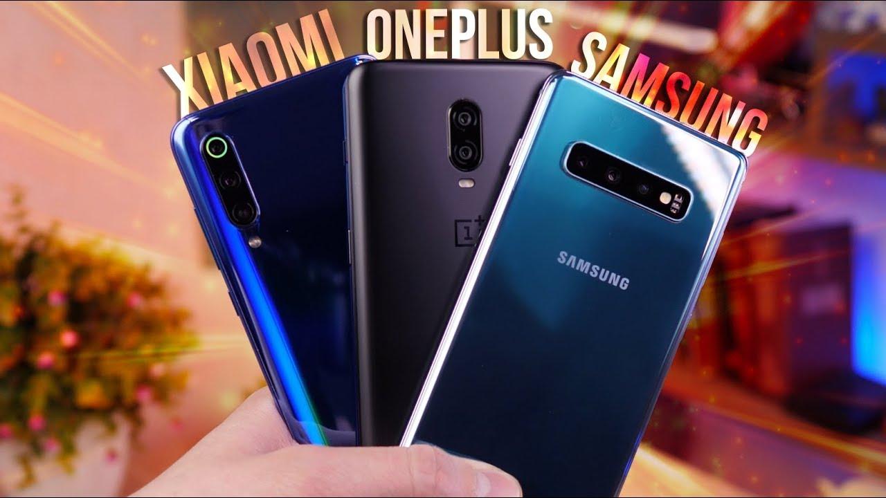 Galaxy S10 plus vs Xiaomi Mi 9 vs OnePlus 6T