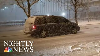 Storms From Coast To Coast Threaten To Cause Thanksgiving Travel Nightmare | NBC Nightly News