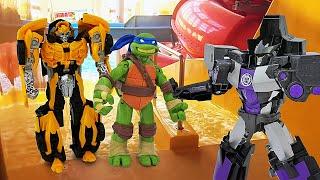 Трансформеры и Черепашки Ниндзя в Аквапарке! - Сборник видео игр для мальчиков.