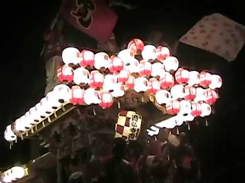 2006.8.26 河南町 寛弘寺 草笛の夕べ だんじり曳行 でんでん等