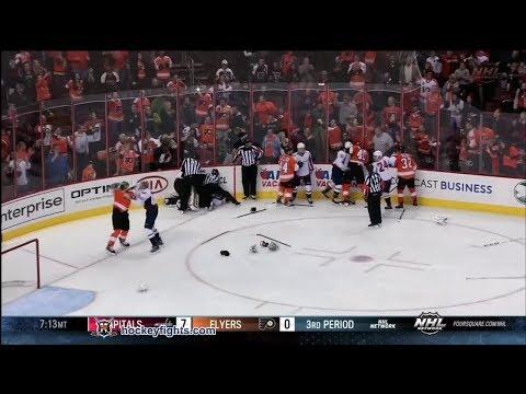 Capitals vs Flyers line brawl Nov 1, 2013