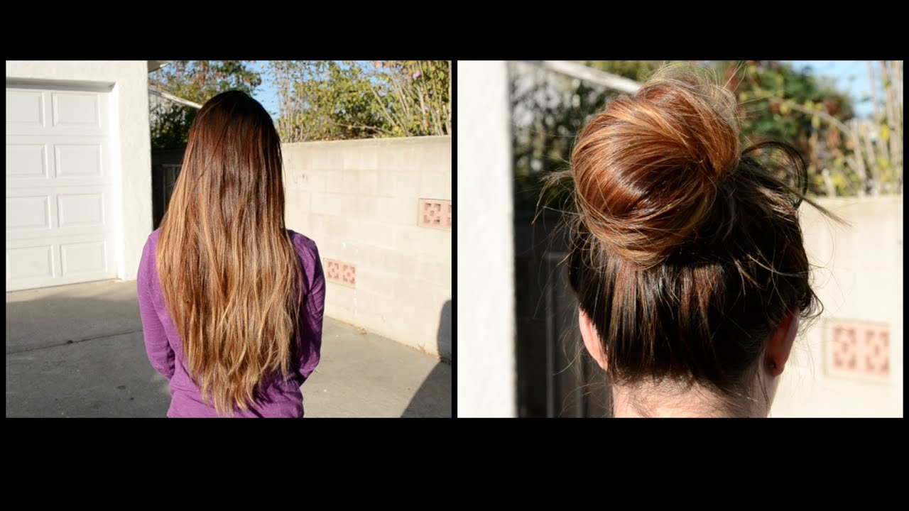 Hair Tutorial Messy Bun Only 2 Hair Ties Required Youtube