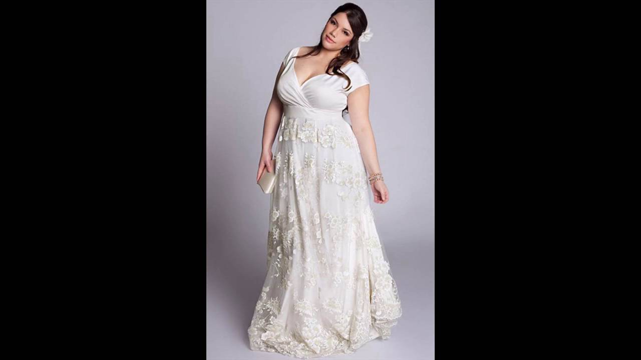 Tendencias de la moda Vestidos de novia al civil para gorditas - YouTube