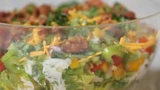 Easy, Healthy Seven Layer Salad Recipe